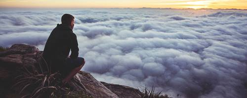 Meditation above the clouds