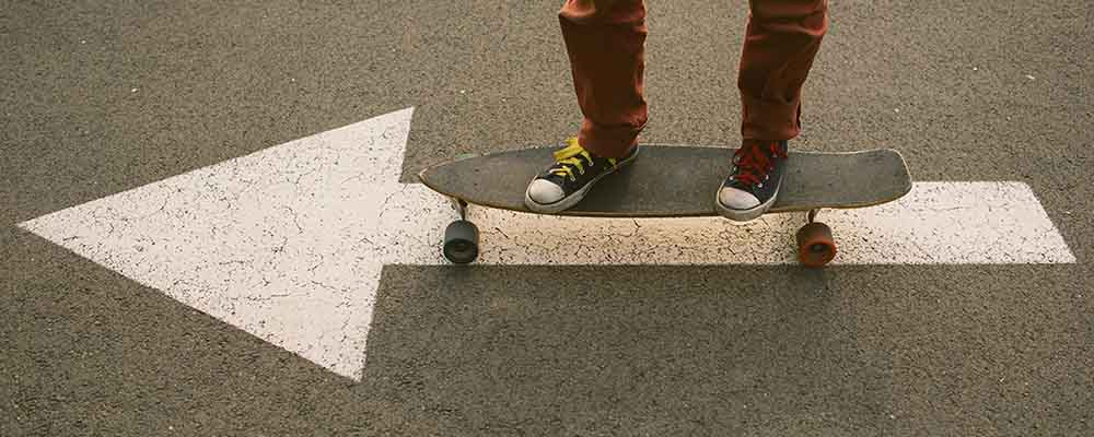 Young person on Skateboard