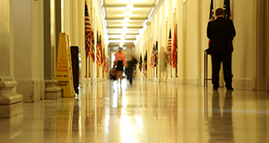 Hallway in government building.