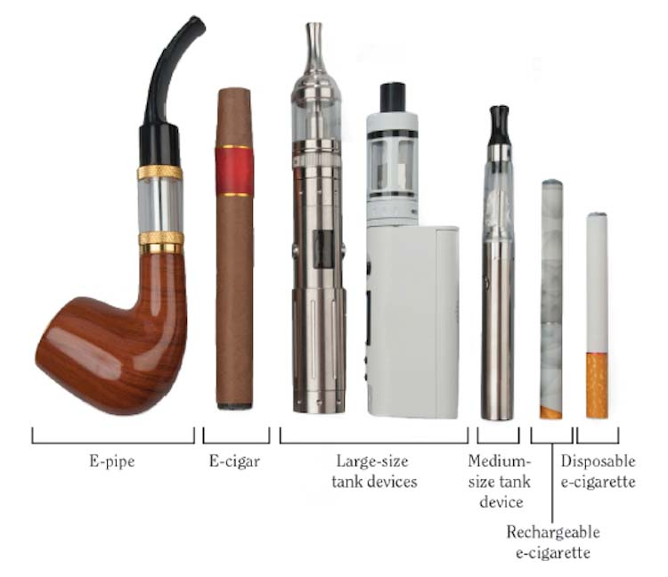 Diversity of e-cigarette products