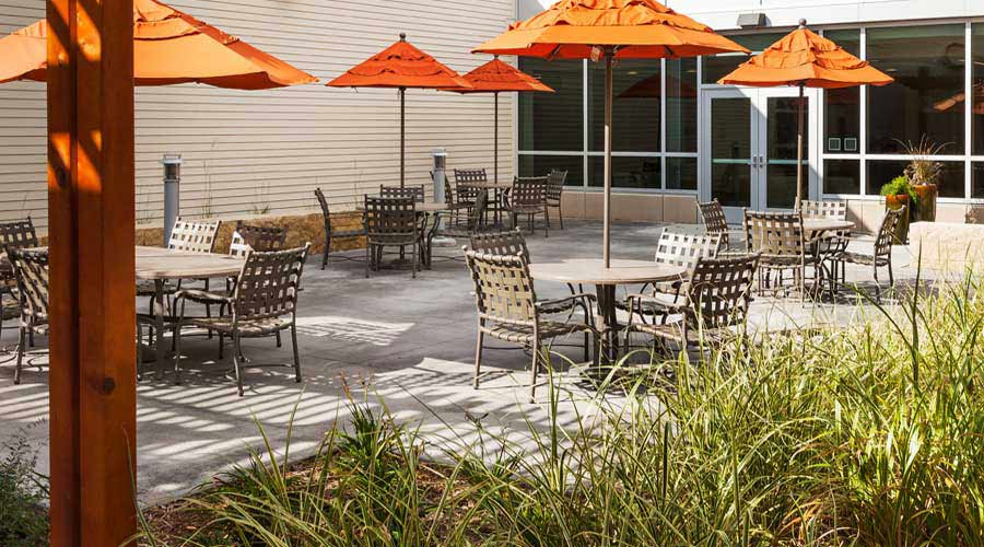 Outdoor Patio at Hazelden in Plymouth