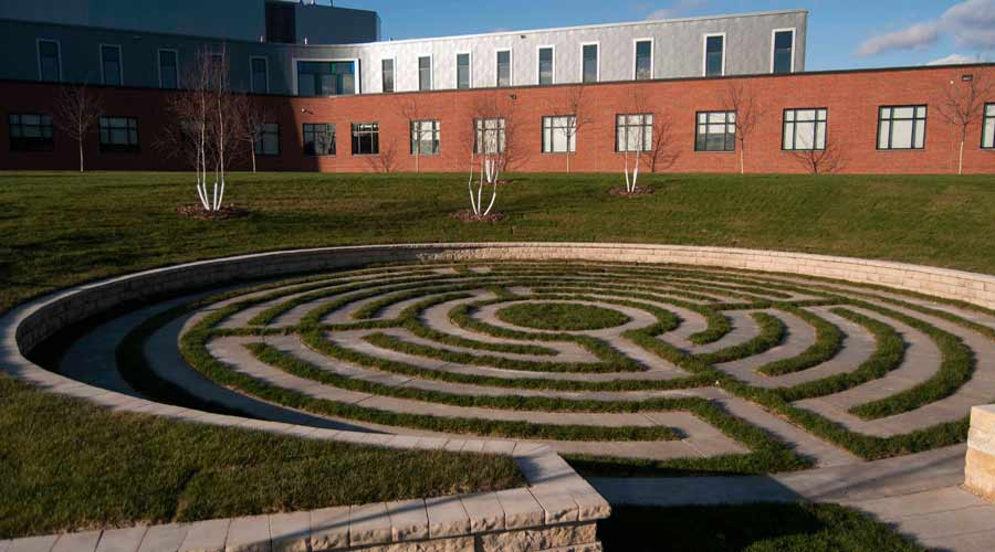 image of the labyrinth at Betty Ford Foundation
