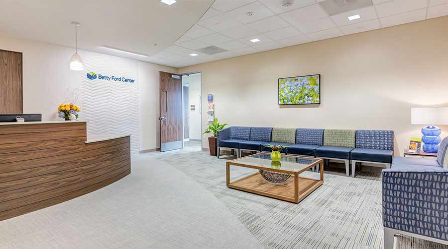 Reception area of addiction treatment center in Los Angeles, CA.