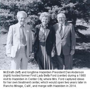 Damain McElrath, Betty Ford and Dan Anderson