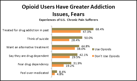 Chronic Pain Opioid Users Have Greater Addiction Issues and Fears Graph